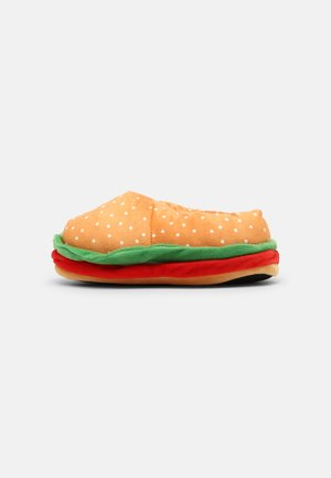 SANDWICH FACE - Slippers - tan/red