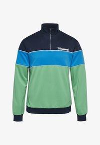Hummel - LIAM - Fleece jumper - marine/green - 3