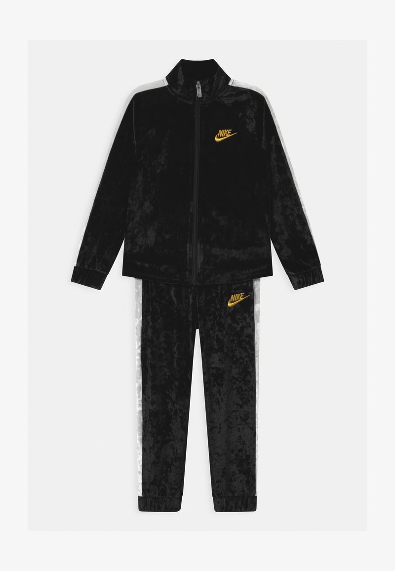 Nike Sportswear - CRUSHED TRACK SET - Tracksuit - black