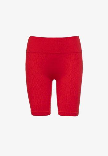 SHINY RIBBED - Short - bright red