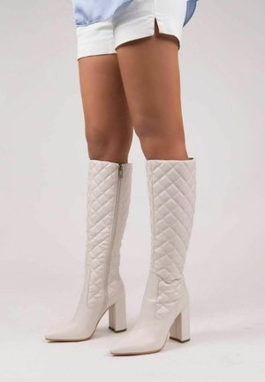 LEANNY  - Stivali con i tacchi - white