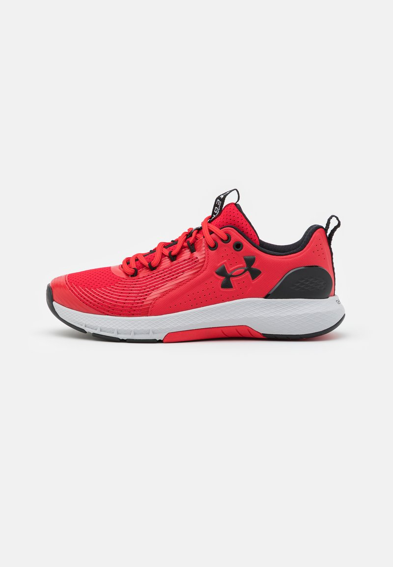 Under Armour - CHARGED COMMIT TR  - Sports shoes - red/halo gray/black