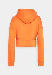 Missguided - RUCHED DETAIL HOODY - Hoodie - orange - 1