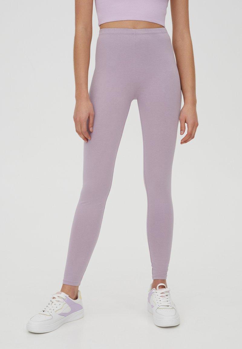 PULL&BEAR - Leggings - Trousers - purple