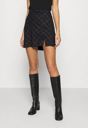 PLAID MINI SKIRT - Minigonna - black
