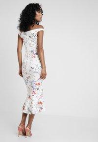 True Violet - BARDOT BODYCON WITH FRILL - Maxi dress - multi-coloured/white - 3