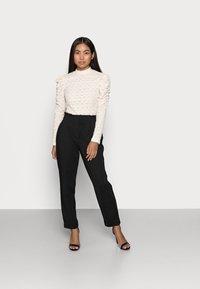 ONLY Petite - ONLHADEYA HALFRID PANT - Trousers - black - 1