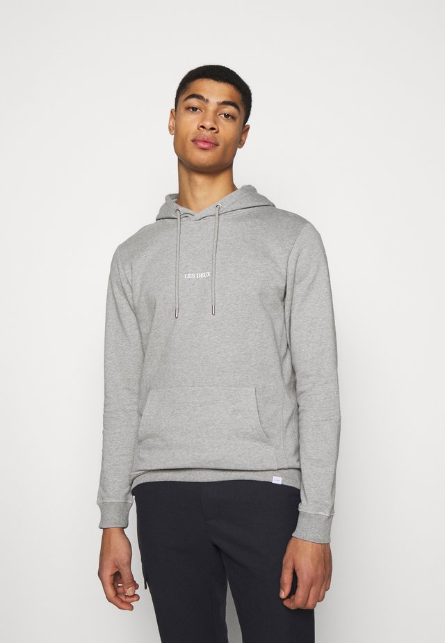 LENS HOODIE - Hoodie - light grey melange/white