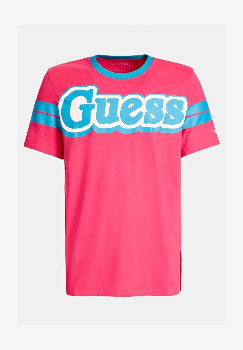 Guess BARS TEE - T-Shirt print - blau qgWCdC