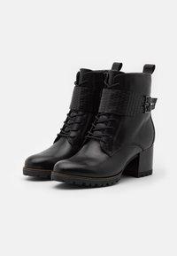Tamaris Pure Relax - BOOTS RELAXED FIT - Snørestøvletter - black - 2