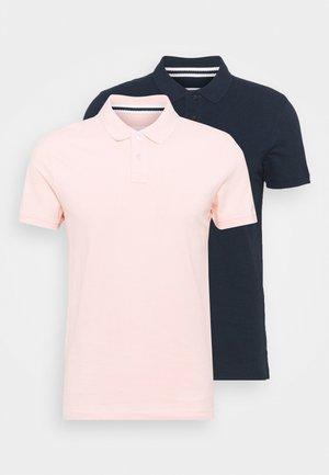 2 PACK - Poloskjorter - dark blue/pink
