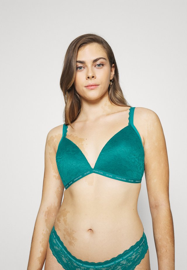 LIGHTLY LINED  - Triangle bra - turtle bay