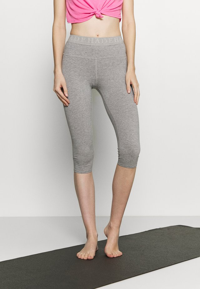 LEGGINGS 3/4 - Pantalon 3/4 de sport - grey melange