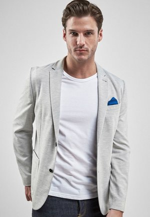 LIGHT GREY JERSEY SLIM FIT BLAZER - Blazer jacket - grey