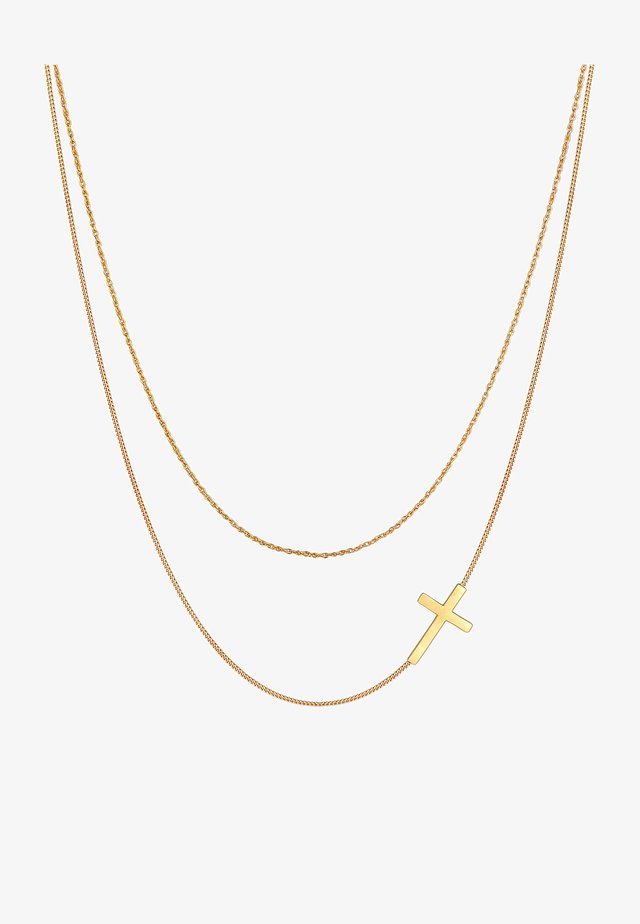 KREUZ TWISTED PANZER LAYER - Ketting - gold