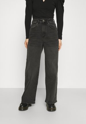 ONLINC HOPEEX HI WIDE LEG REAPET - Jeans relaxed fit - black denim