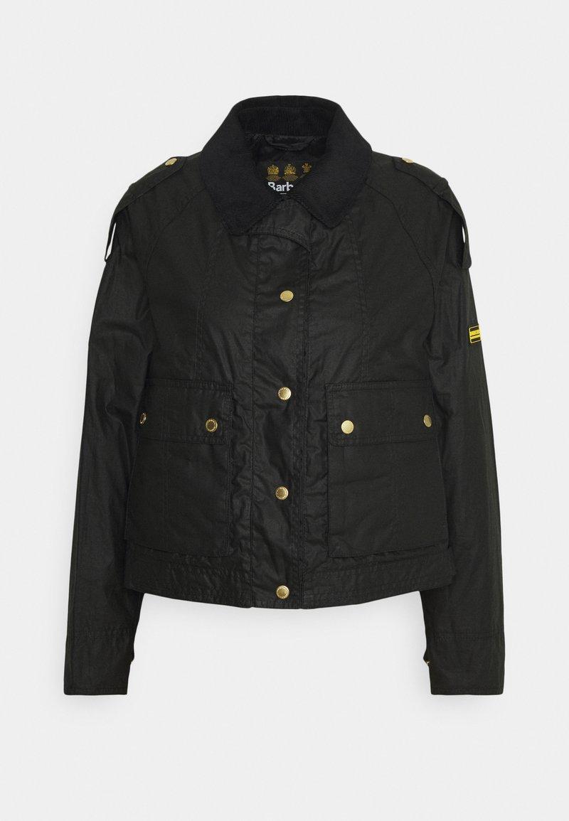 Barbour International - BURNOUT - Summer jacket - black