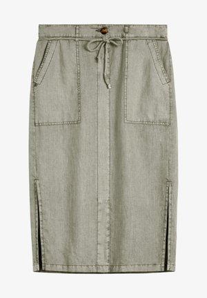 A-line skirt - oliv
