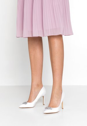 TRIM COURT SHOE - High heels - white
