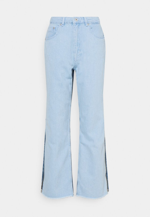GEMINI - Straight leg jeans - miced blue