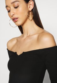 Nly by Nelly - OFF SHOULDER - Long sleeved top - black - 4