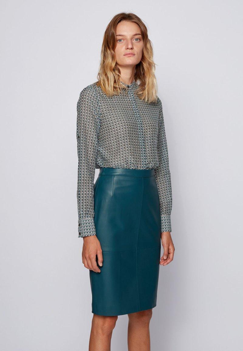 BOSS - EFELIZE_17 - Button-down blouse - patterned