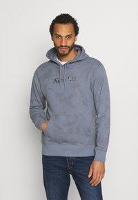 Nike SB - HOODIE UNISEX - Sweatshirt - ashen slate/midnight navy - 0