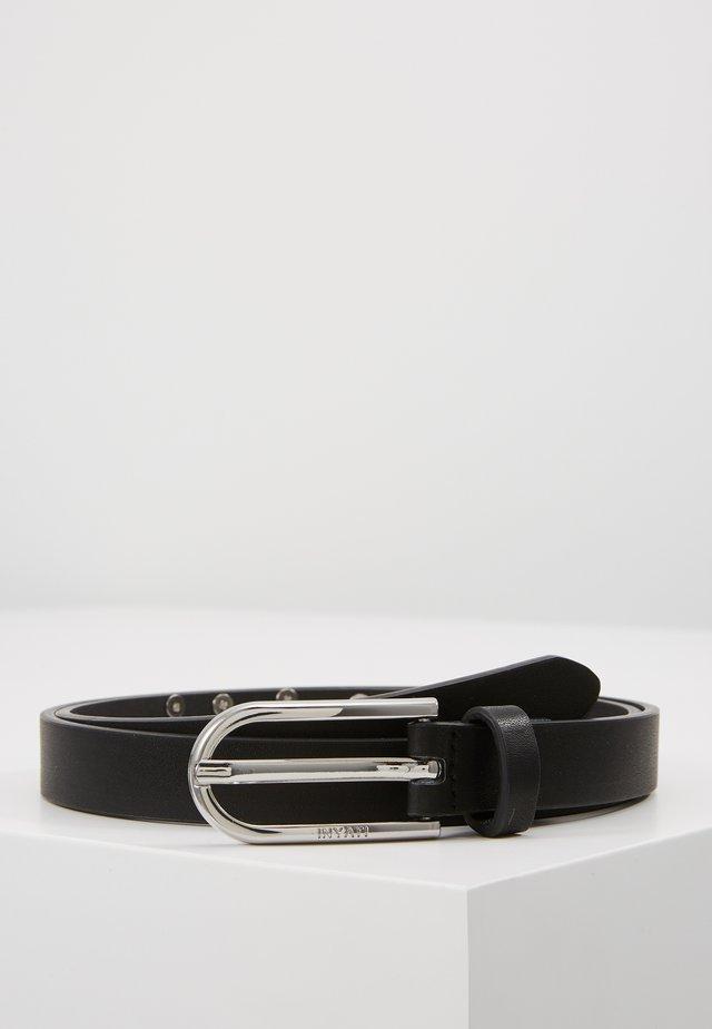 WAIST BELT SLIM LOGO LETTERS - Cinturón - black