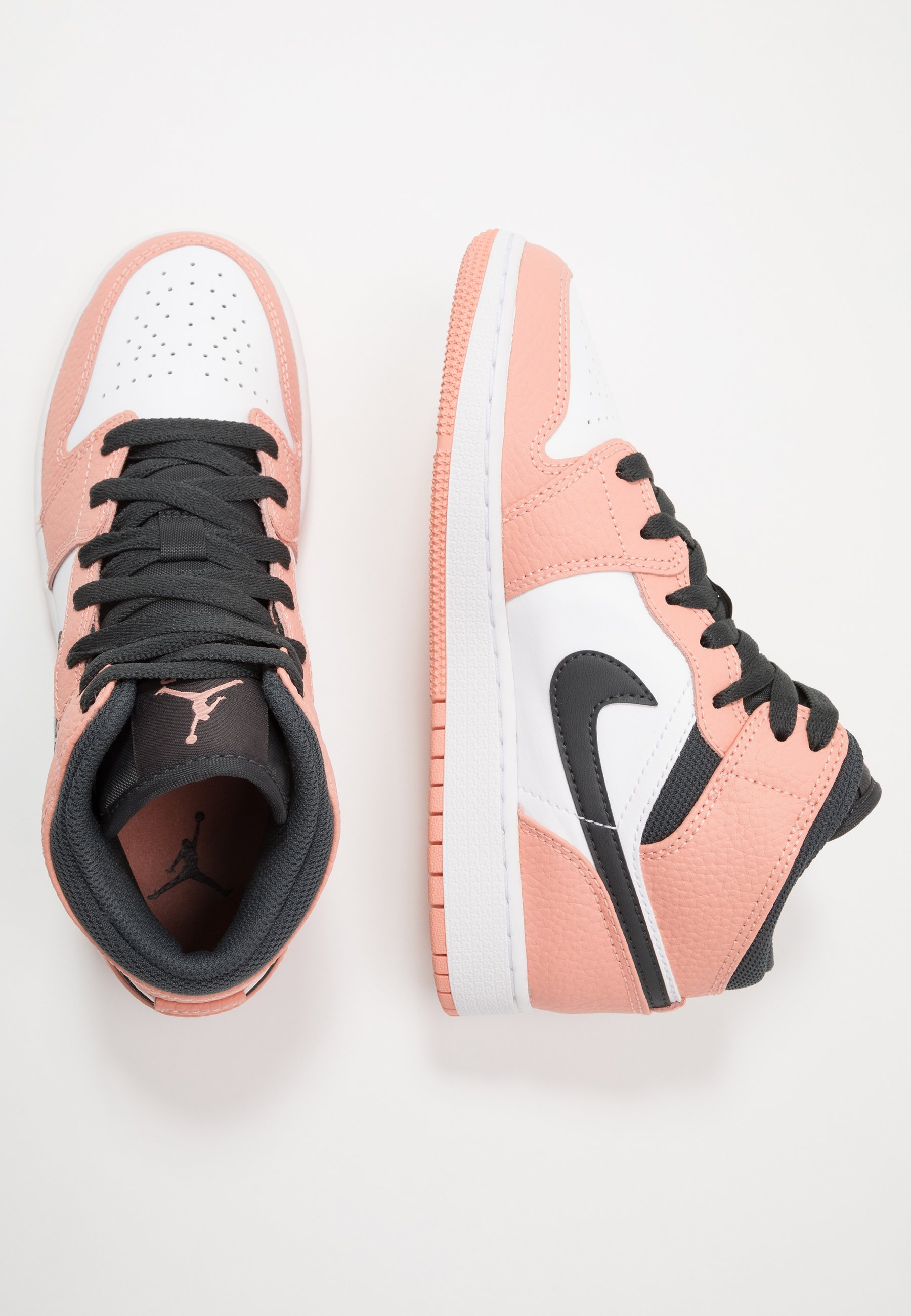 AIR 1 MID UNISEX - Scarpe da basket - pink quartz/dark smoke grey/white