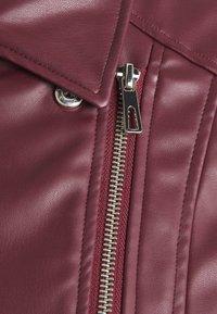 Springfield - BIKER - Faux leather jacket - red - 2
