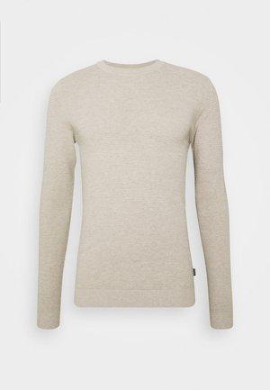 JELIAM CREW NECK - Stickad tröja - oatmeal  melange