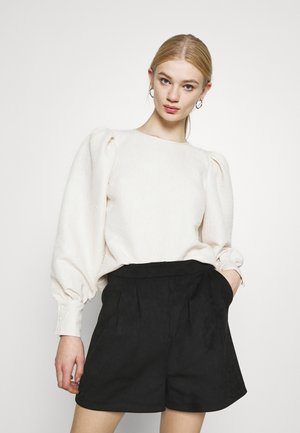 STRUCTURED BIG PUFF SLEEVE BLOUSE - Long sleeved top - offwhite