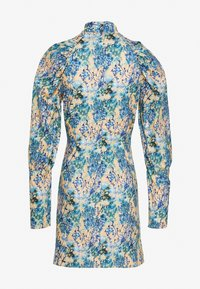 NA-KD - HIGH NECK ELASTIC DETAIL DRESS - Shift dress - yellow - 6