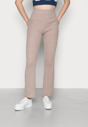 KYLIE TROUSERS - Trousers - taupe marl