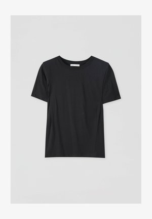 Basic T-shirt - mottled black