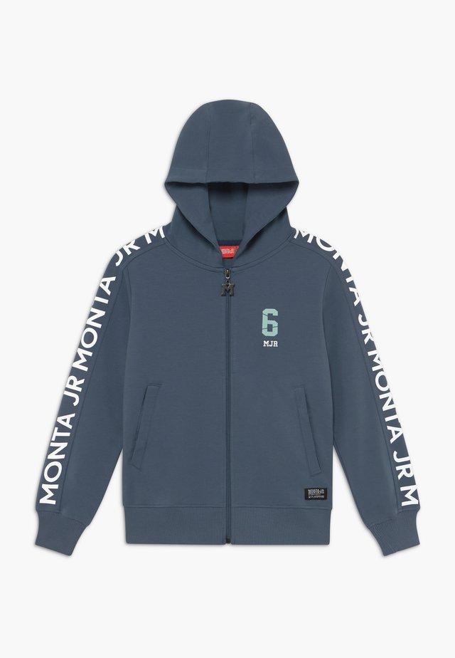 CRATO - veste en sweat zippée - steel blue