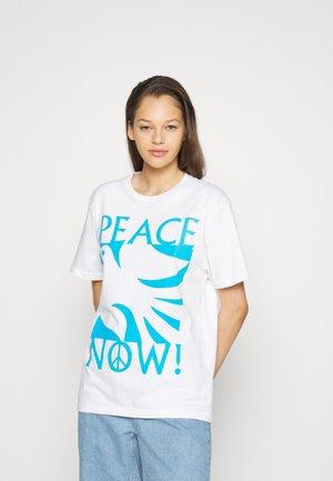 PEACE NOW - Triko spotiskem - white