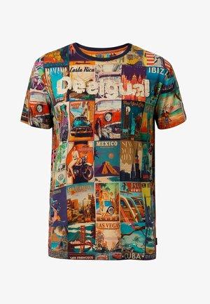 ERENESTO - Print T-shirt - blue