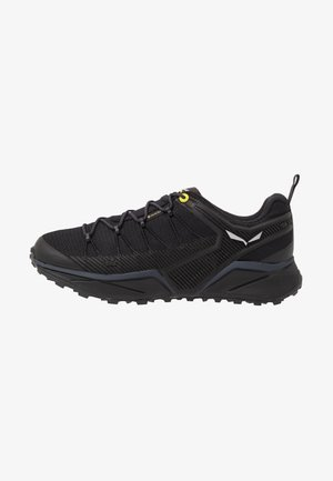 MS DROPLINE GTX - Hiking shoes - black out/fluo yellow
