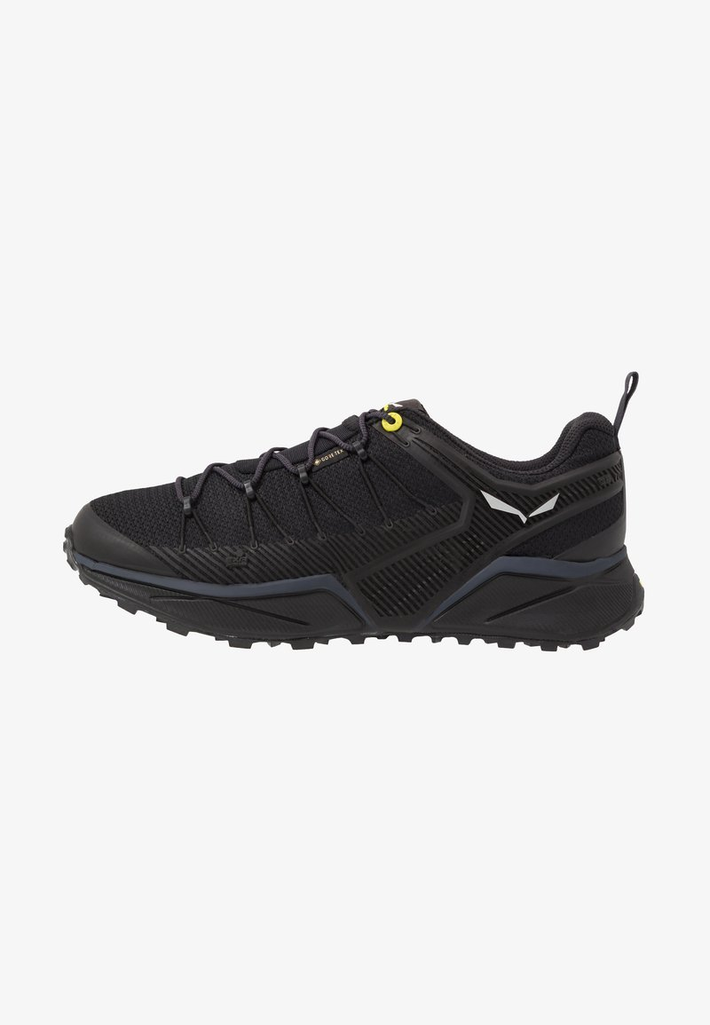 Salewa - MS DROPLINE GTX - Hiking shoes - black out/fluo yellow