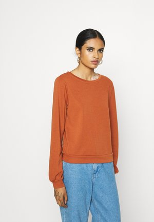 ONLMILA NECK MIX  - Sweatshirt - ginger bread