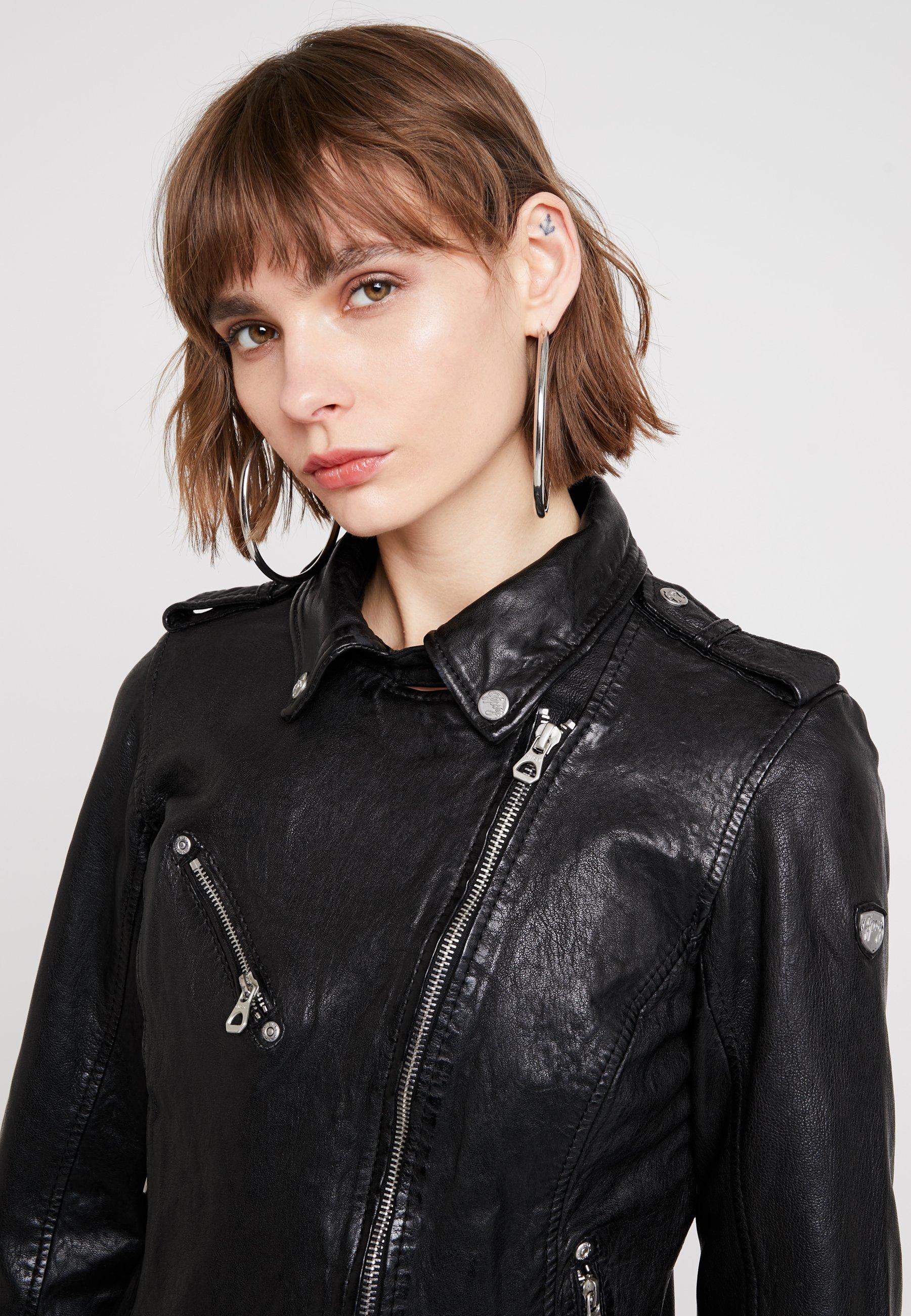 FAMOS Leren jas black