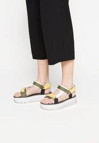 Camper - ORUGA UP - Platform sandals - yellow - 0