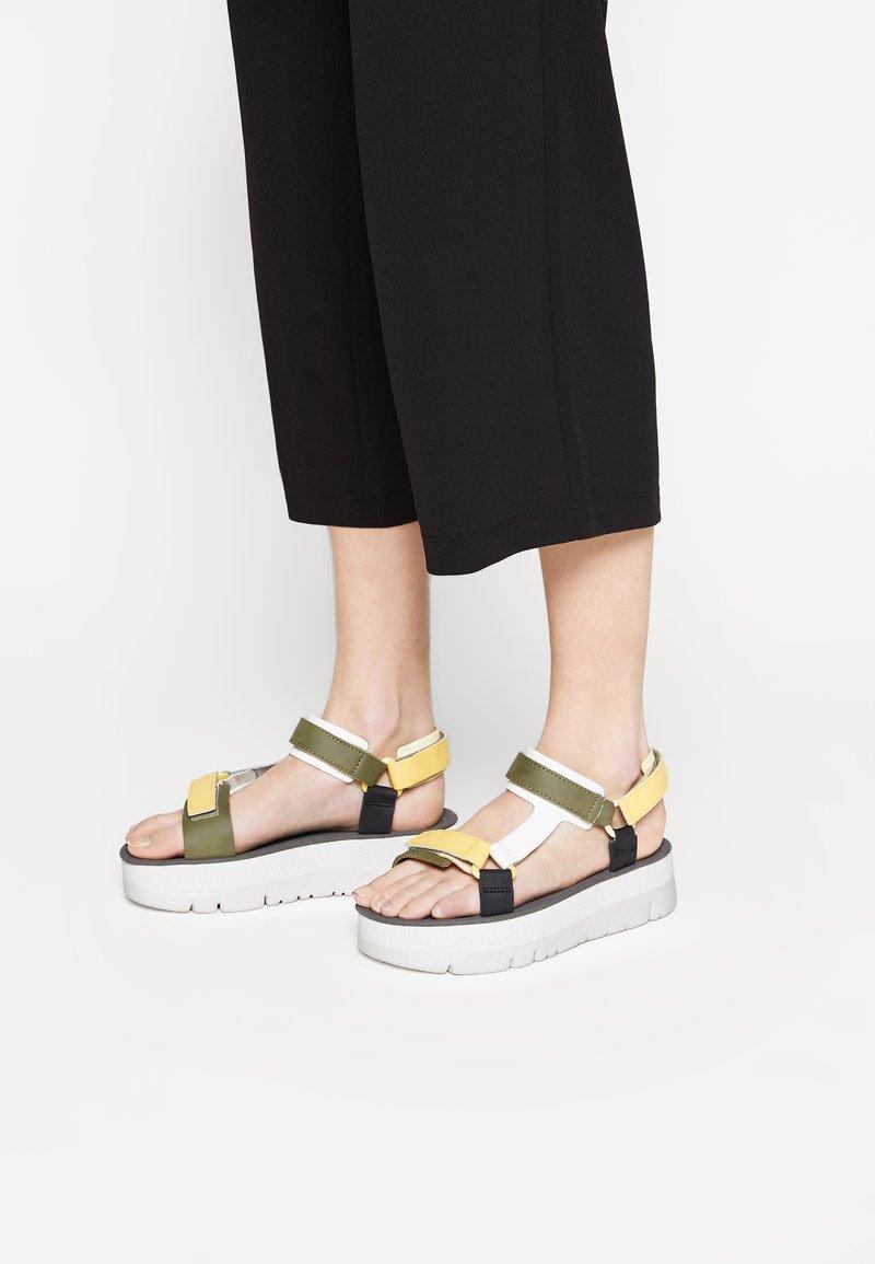 Camper - ORUGA UP - Platform sandals - yellow