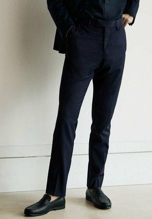 Suit trousers - blue black denim