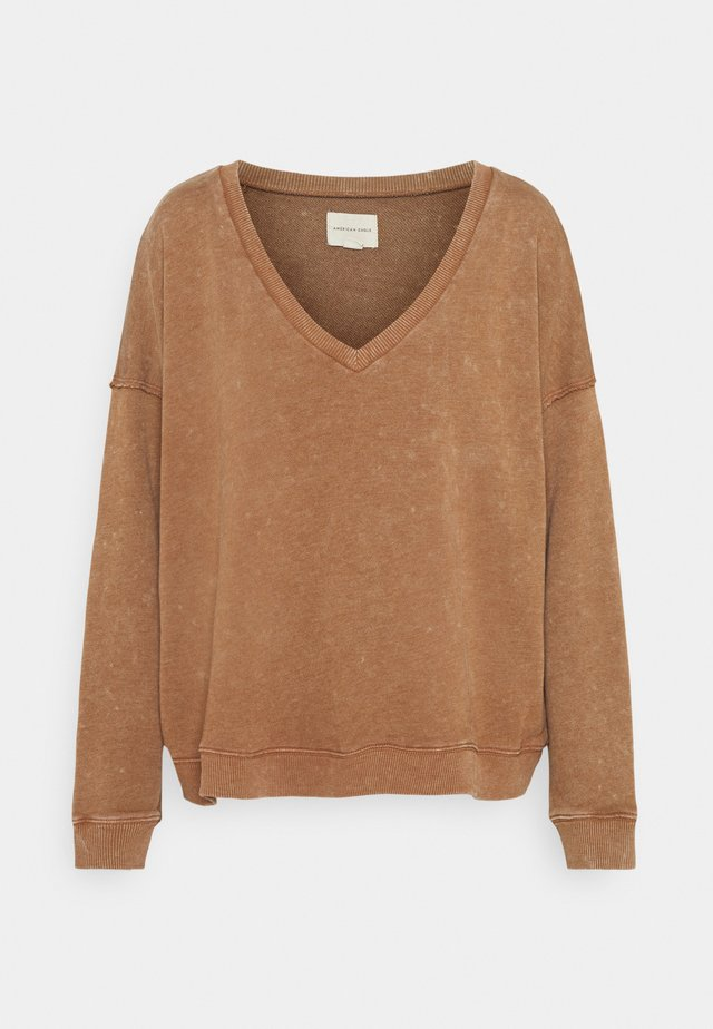 NECK CROP - Maglione - brown