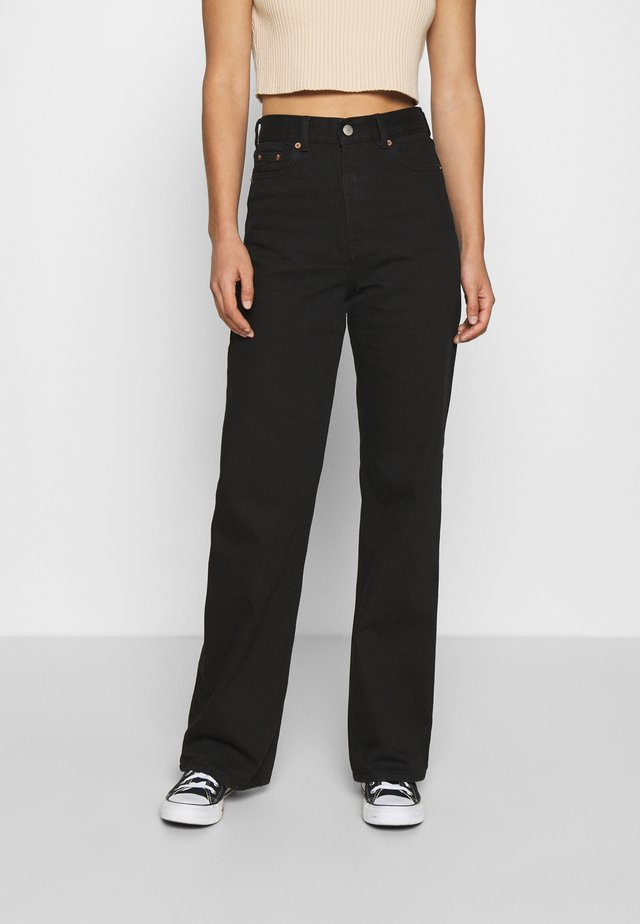 ECHO - Straight leg jeans - black