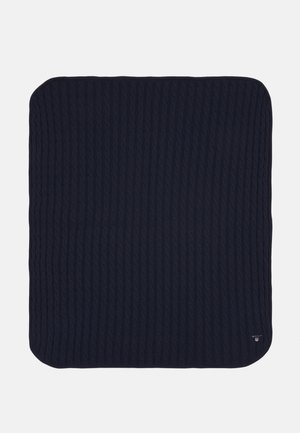 CABLE BLANKET UNISEX - Baby blanket - evening blue