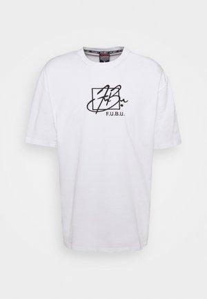 SCRIPT  - T-shirt con stampa - white