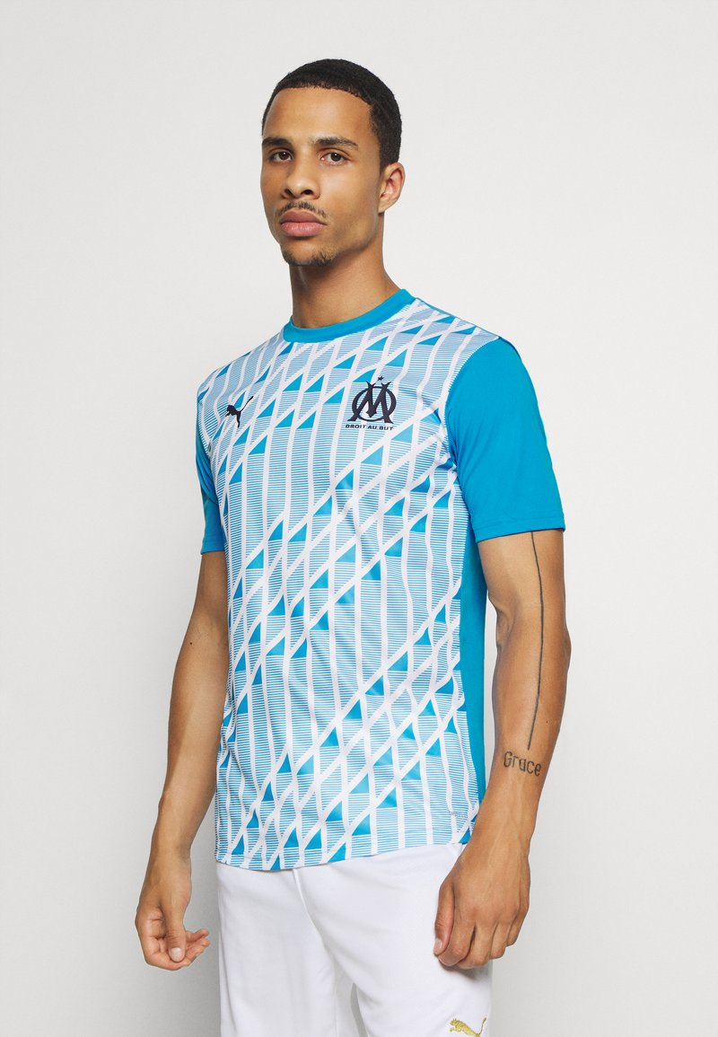 Puma - OLYMPIQUE MARSEILLE STADIUM - Club wear - bleu azur/white